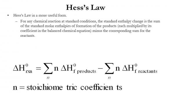 Hess's law Quiz
