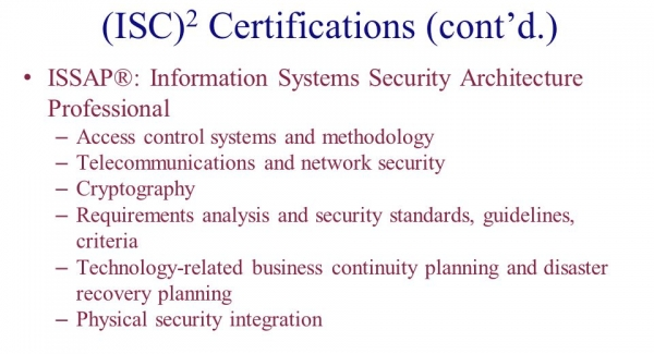CISSP - ISSAP Information Systems Security Architecture Professional Quiz