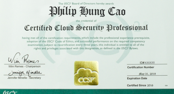 CCSP Certified Cloud Security Professional Quiz