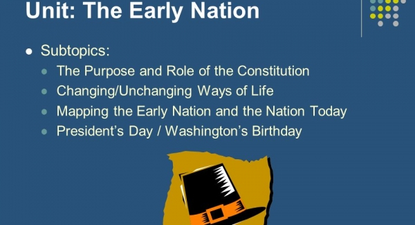 Early Nation quiz