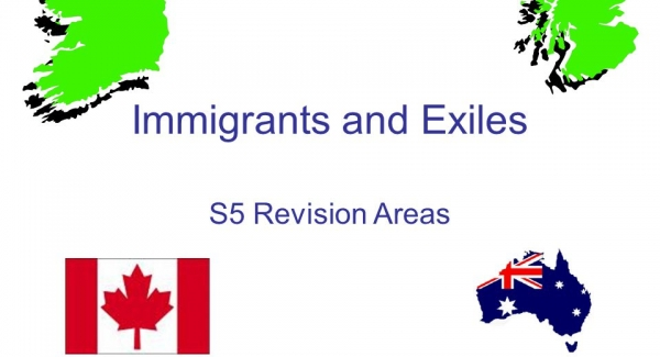 Immigrants and Exiles Quiz