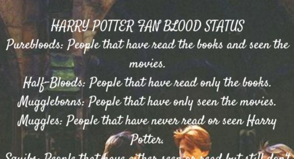Harry Potter Quiz: What % Pure-Blood Are You?